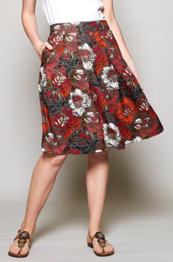 Nomads tencelová řasená sukně petal
