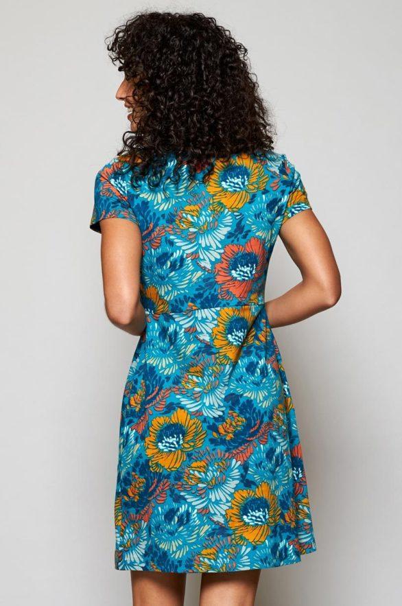 Nomads tunikové šaty petal modré