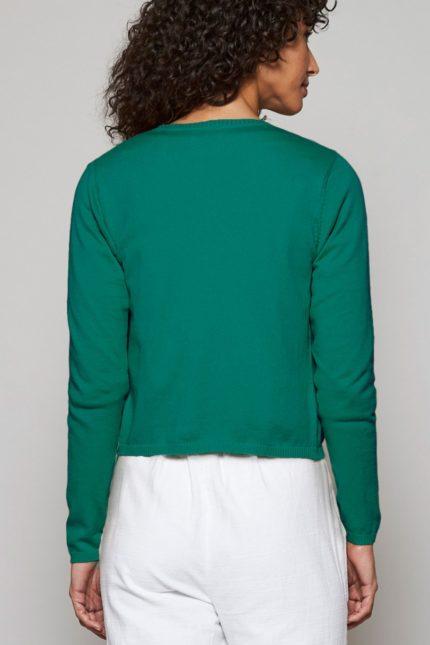 Nomads zavinovací kardigan z bio bavlny evergreen