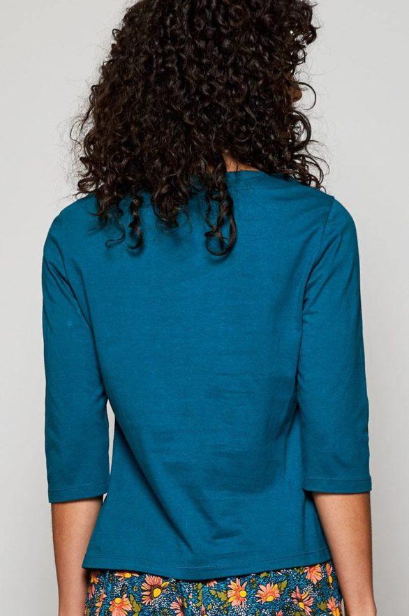 Nomads top s polodlouhým rukávem z bio bavlny modrý