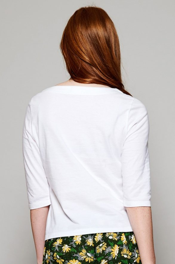 Nomads top s polodlouhým rukávem z bio bavlny bílý