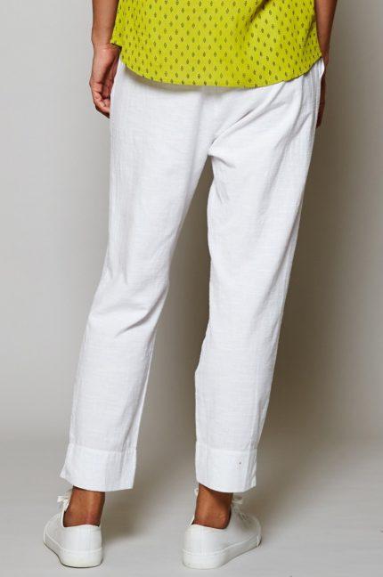 Nomads capri kalhoty slim bílé