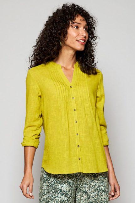 Nomads košile s nabíráním citrus