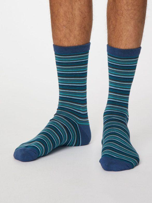 Thought pánské bambusové ponožky michael červené