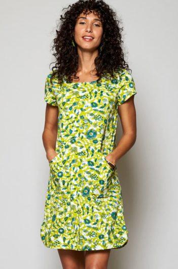 Nomads tunikové šaty tresco z bio bavlny žluté