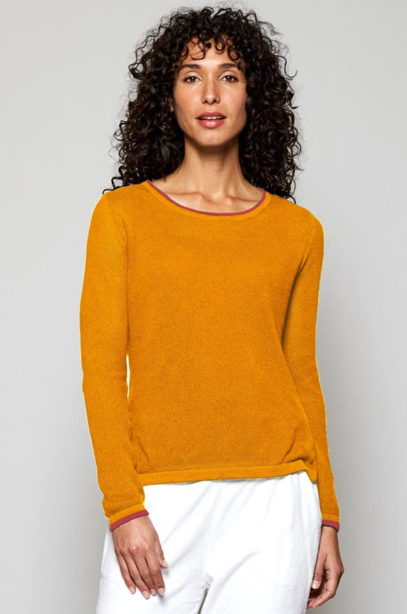 Nomads svetr z bio bavlny apricot