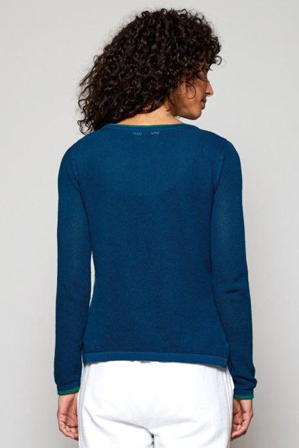 Nomads svetr z bio bavlny teal