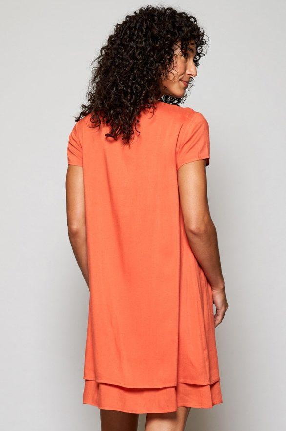 Nomads vrstvené šaty papaya
