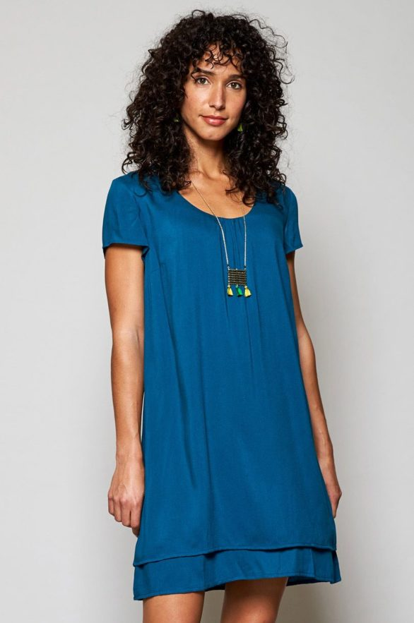 Nomads vrstvené šaty teal
