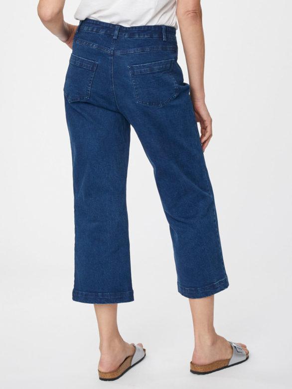 Thought džínové kalhoty culottes rosa
