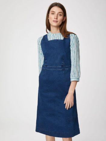 Thought džínové šaty z bio bavlny rosa