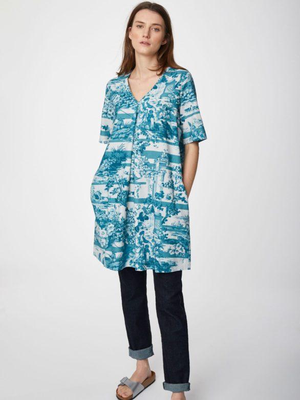 Thought konopné tunikové šaty toile de jouy
