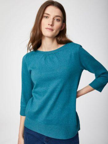 Thought svetr s vlnou lula modrý