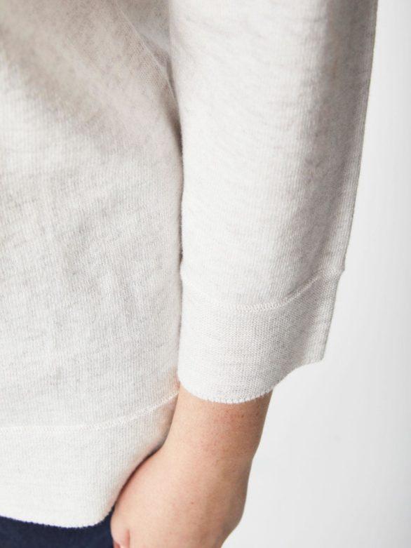 Thought svetr s vlnou lula krémový