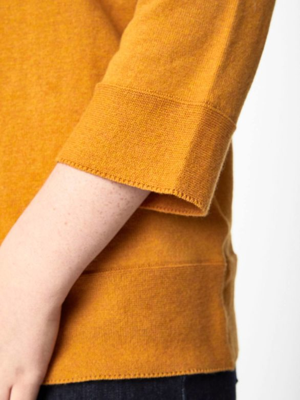 Thought svetr s vlnou lula hořčicový