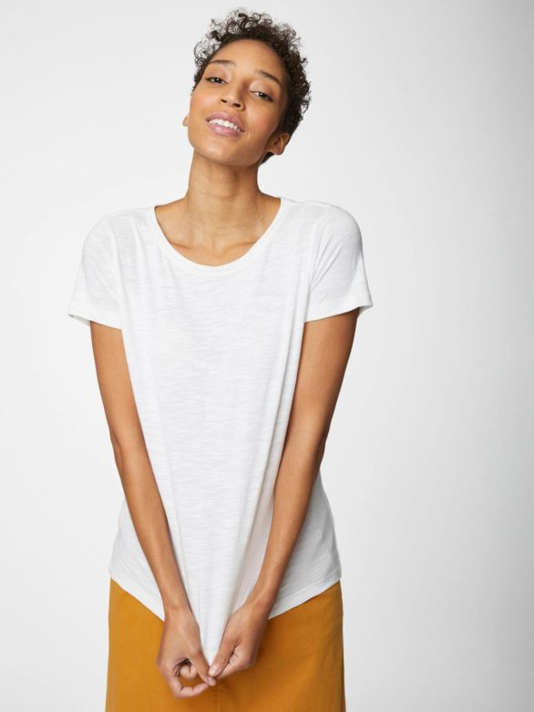 Thought tričko z bio bavlny bílé