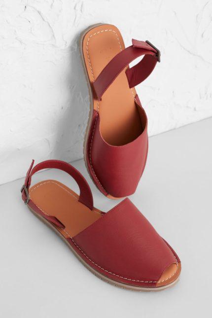 Seasalt Cornwall kožené sandály open skies červené