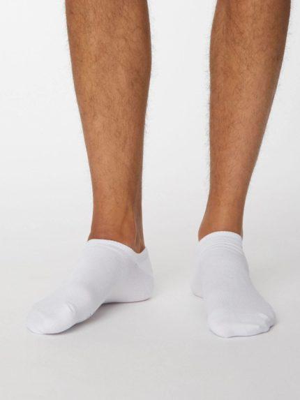 Thought kotníkové pánské ponožky ashley bílé