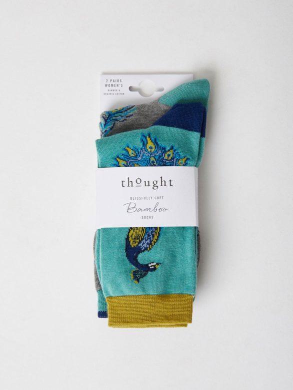 Living Crafts dvojbalení dámských ponožek pavone