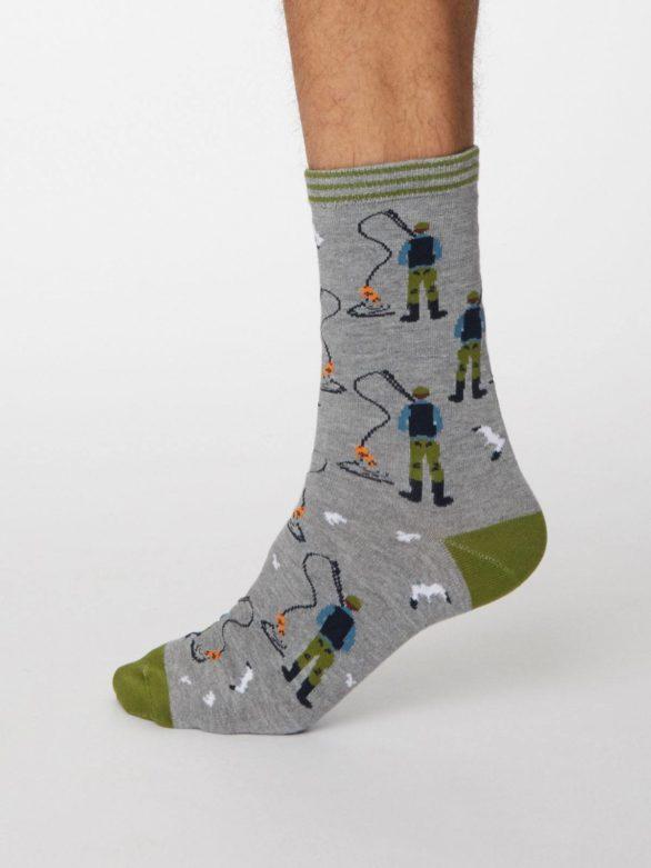 Thought pánské bambusové ponožky pesca šedé