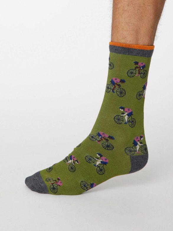 Thought pásnké bambusové ponožky garra zelené