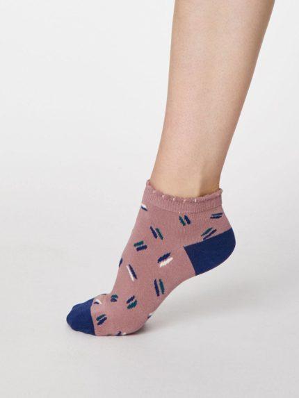 Thought kotníkové dámské ponožky sallie růžové