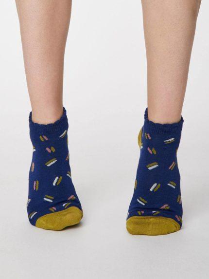 Thought kotníkové dámské ponožky sallie modré