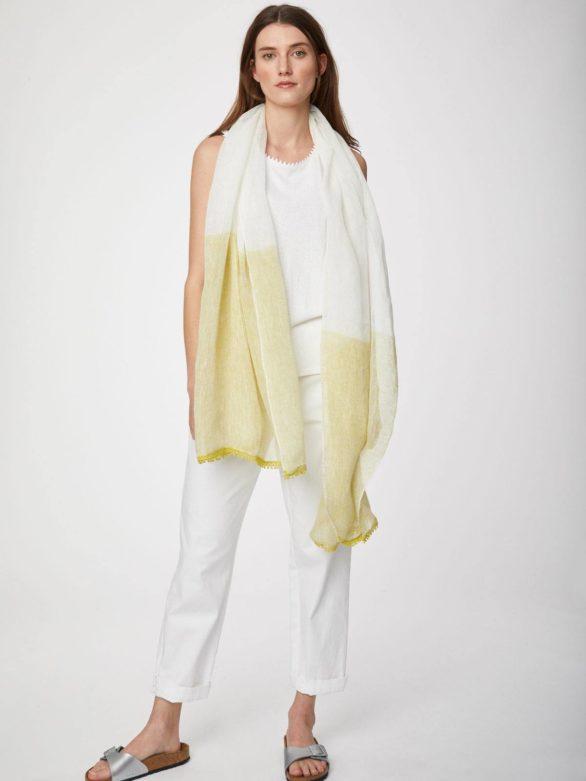 Thought konopný šátek zanetta žlutý