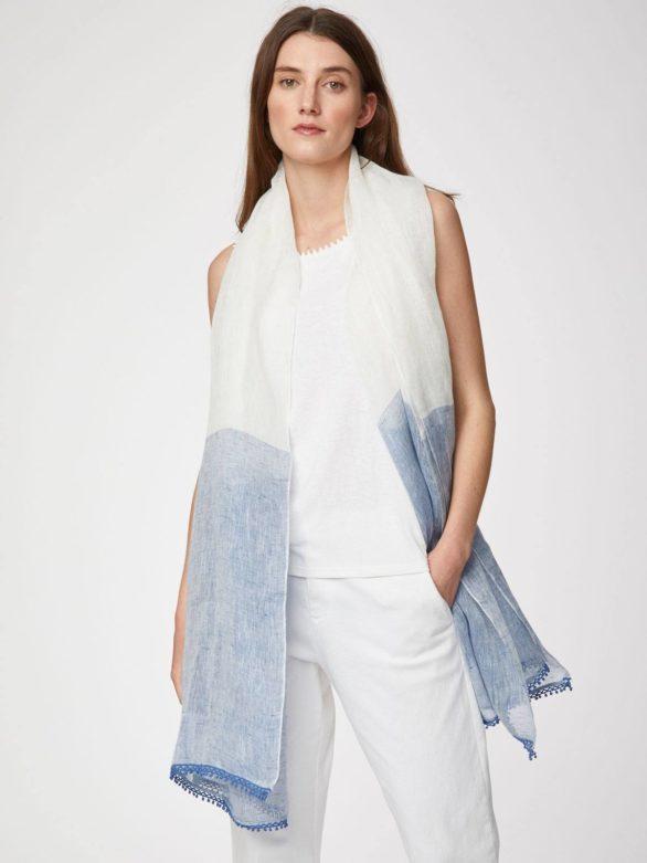 Thought konopný šátek zanetta modrý