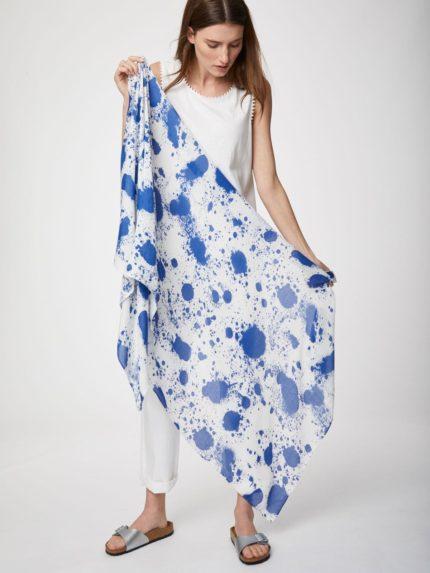 Thought bambusový šátek polloc bílo-modrý