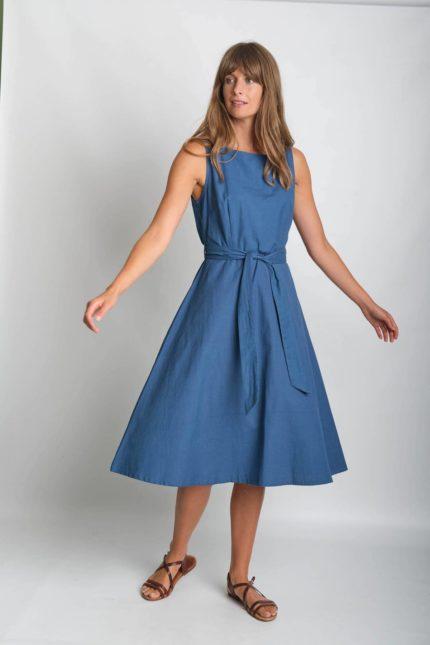 Bibico Šaty se lnem grace modré