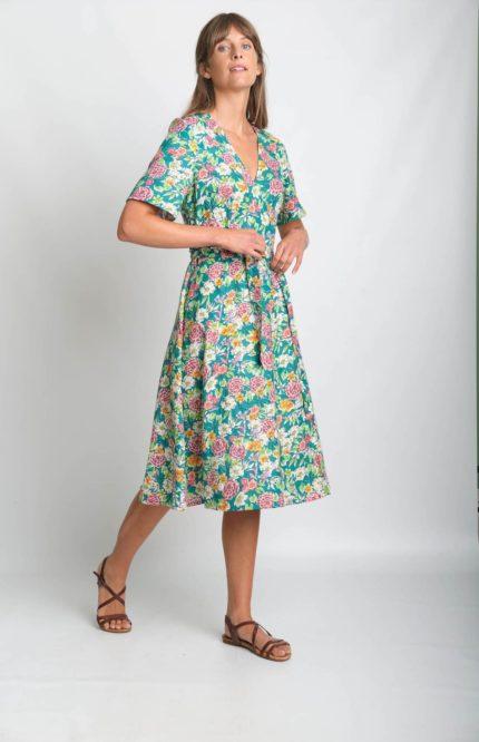 Bibico zavinovací šaty ida floral