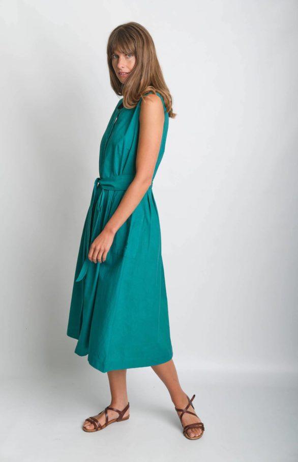 Bibico Šaty se lnem margot emerald