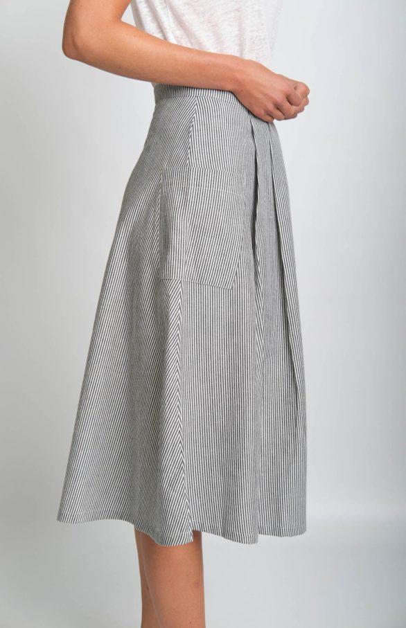 Bibico lněná midi sukně una