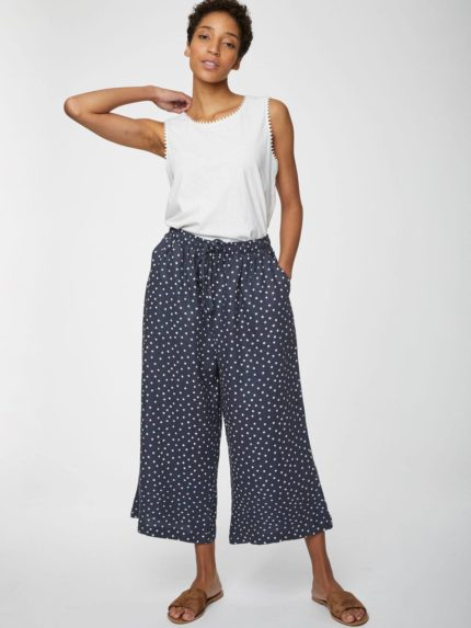 Thought konopné kalhoty culottes miriam