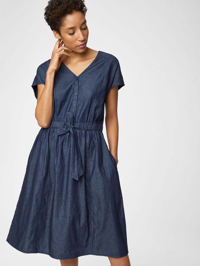 Thought denimové šaty z bio bavlna camila