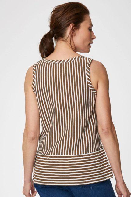 Thought konopný top simonia vest hnědý