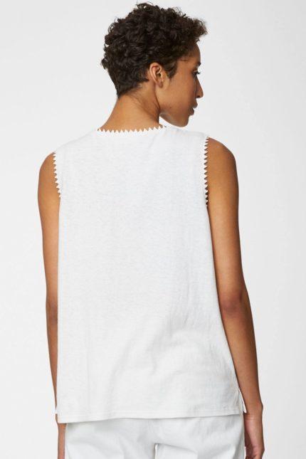 Bibico konopný top betta vest bílý