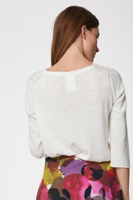 Thought svetřík s konopím ethel bílý