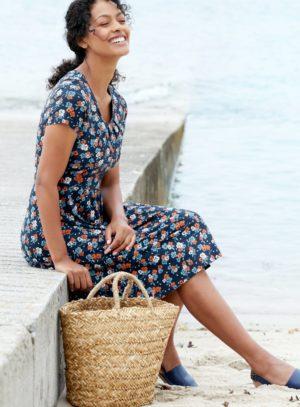 Seasalt Cornwall bambusové šaty crebawthan harbour