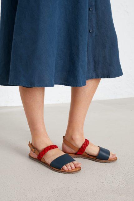 Seasalt Cornwall kožené sandály kelpie modré
