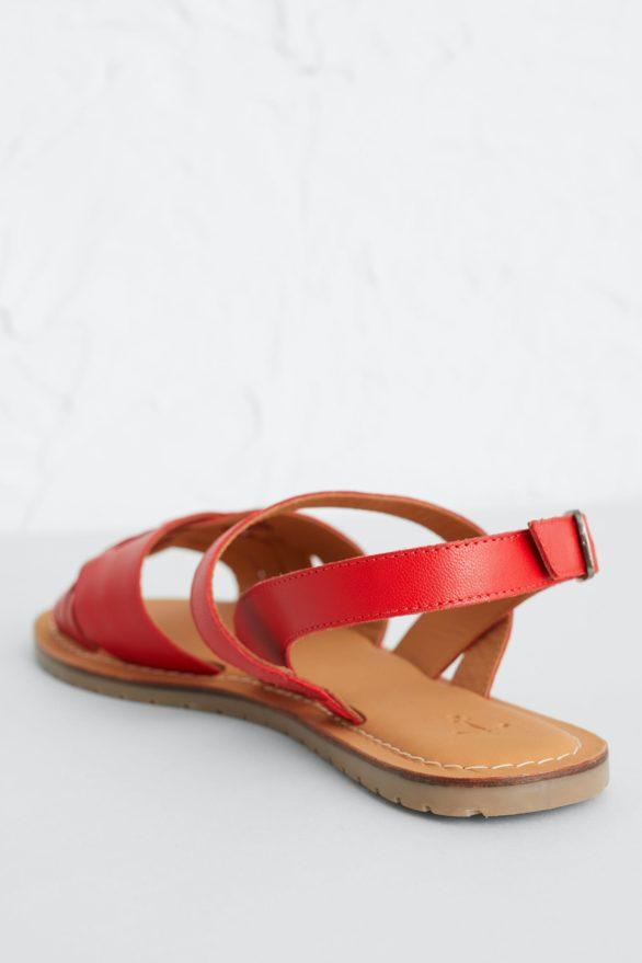 Seasalt Cornwall kožené sandály chapel down červené