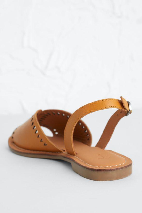 Seasalt Cornwall kožené sandály lapwing žluté