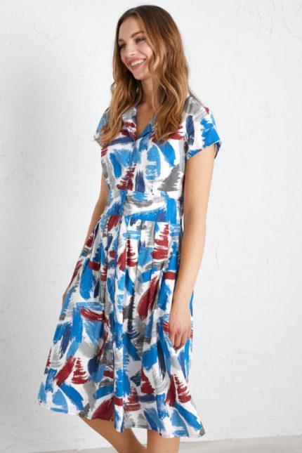 Seasalt Cornwall košilové šaty lottie dahlia