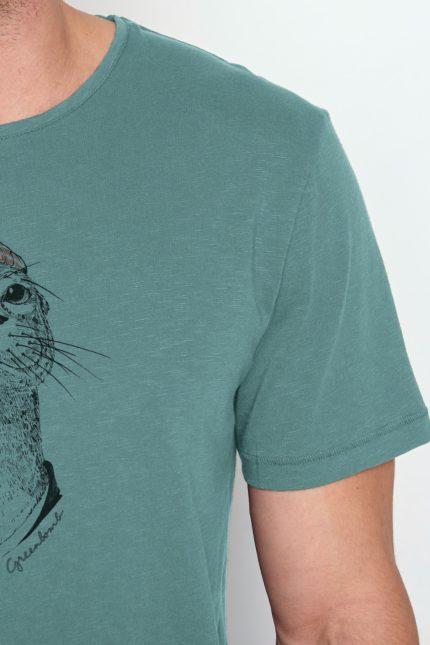 Greenbomb tričko z bio bavlny animal otter sv. modré
