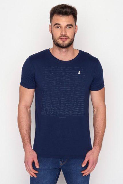 Greenbomb tričko z bio bavlny animal seagull modré