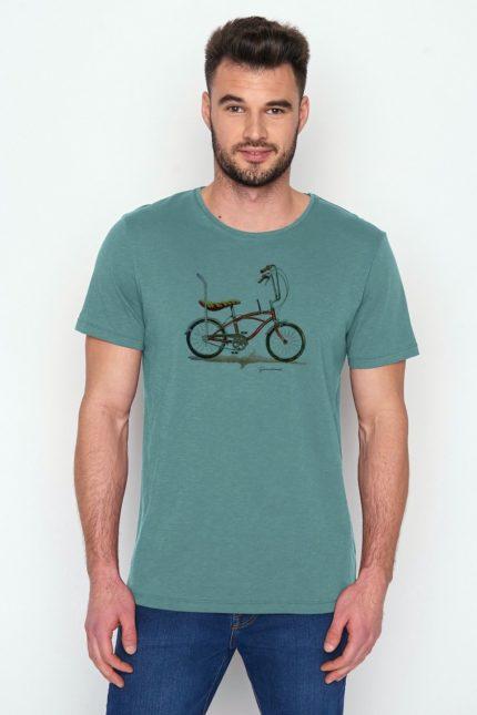 Greenbomb tričko z bio bavlny bike banana sv. modré