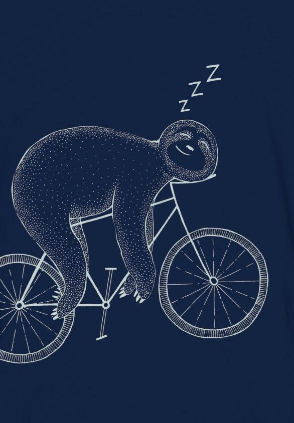 Greenbomb tričko z bio bavlny bike sloth modré