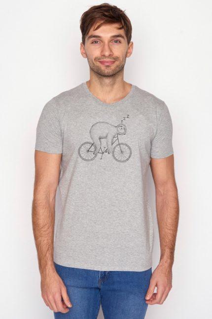 Greenbomb tričko z bio bavlny bike sloth šedé