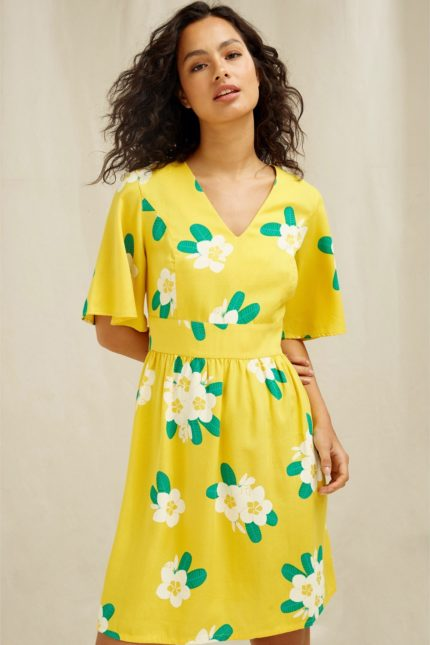 People Tree tencelové šaty marina plumeria